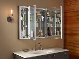 kohler bathroom mirror cabinet k 99010 verdera medicine cabinet with triple mirrored doors kohler