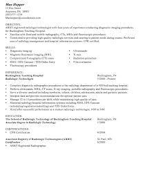 Radiology Tech Resume Sample Resume Format For Fresh Graduates Resumedoc