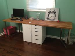 Cheap Computer Desks Ikea Office Makeover Part One Diy Desk Ikea Hack Design Elements