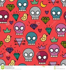 halloween skull background red skull background stock vector image 45451023