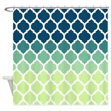 Blue And Green Shower Curtains Blue Green Moroccan Lattice Shower Curtain By Doodles Design