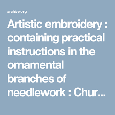 artistic embroidery containing practical in the