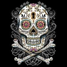 shirt custom design big floral sugar skull