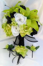 17pcs wedding bridal bouquet set decoration package silk