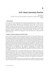 glp good laboratory practice pdf download available