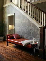 Staircase Wall Design by How To Stencil A Focal Wall Hgtv