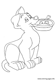 pup food bowl puppy coloring pages printable