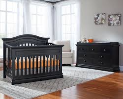 Black Crib With Changing Table Baby Cribs Boho Synthetic Fabric Nursery Geeny Black Crib With
