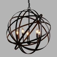 Chandelier Metal Large Metal Orb Chandelier World Market