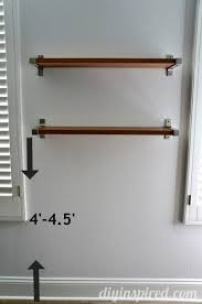 How High To Hang Pictures The Right Height To Hang Shelves Diy Inspired