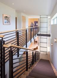 metal banister ideas modern black metal stair railing with wooden banister idea feat