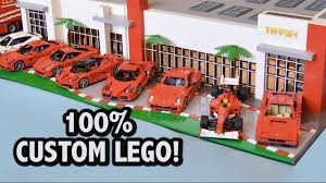 ferrari building incredible lego ferrari dealership u2013 36 000 pieces youtube