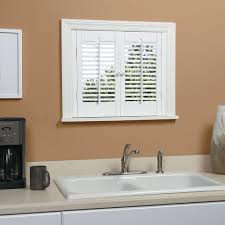 Home Depot Shutters Interior Homebasics Traditional Real Wood Snow Interior Shutter Price