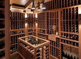 Cellar Ideas Interior Wooden Racks Of Home Wine Cellar Designs With Three
