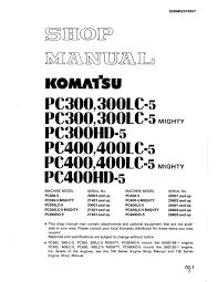 komatsu hydraulic excavator pc300 5 pc400 5 pc300lc 5 pc400lc 5