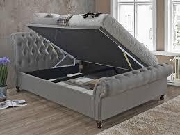 Birlea Ottoman King Size Grey Fabric Ottoman Bed Frame