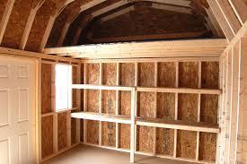 Pine Creek 12x24 Dutch Garage by 10x14 Dutch Barn Loft U0026 Shelves Inside Pine Creek Structures