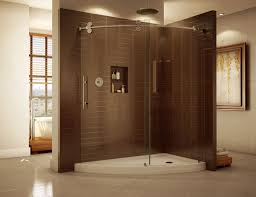 recently modern bathroom with frameless glass shower door thraam com