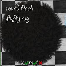 second life marketplace black round fur rug