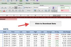 Google Spreadsheet Free Download How To Import Share Price Data Into Excel Market Index