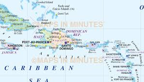 Guantanamo Bay Map Caribbean Map With Land And Ocean Floor Relief 10m Scale In