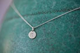 3 initial monogram necklace sterling silver one charm tiny initial necklace in sterling silver monogrammed