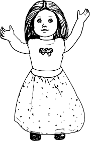 american doll toy coloring page wecoloringpage