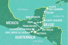 Central America And Caribbean Map by Essential Central America Mexico Tours Geckos Adventures Us