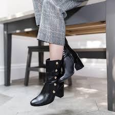 womens boots kurt geiger soldier black mid heel ankle boots by carvela kurt geiger kurt