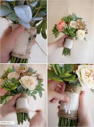 silk flowers for weddings how to make a faux flower bridal bouquet birch bark glue guns