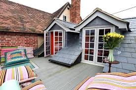 Dormers Roof Decorating Cushions Deck Eclectic With Roof Terrace Gabled Dormers