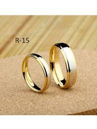 cincin lapis emas jual cincin kawin elegan emas kombinasi sovia silver