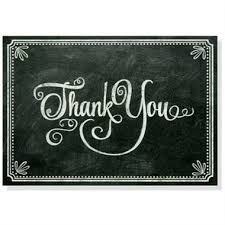 thank you note cards chalkboard set of 14 by pauper press