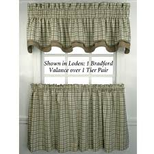 Amazon Window Curtains by Bristol Plaid Tailored Tier Window Treament