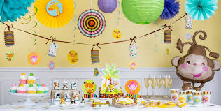 yellow and grey baby shower decorations fisher price jungle baby shower decorations party city