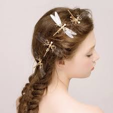 hair accessories wedding 1 pcs popular golden dragonfly hairpins bridal headdress wedding