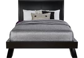 Beds Frames And Headboards Belcourt Black 3 Pc King Platform Bed With Sleigh Headboard King