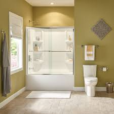 bathtub with shower surround tub shower walls american standard