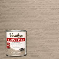 Varathane  Qt Sun Bleached Stain And Polyurethane The - Interior wood stain colors home depot