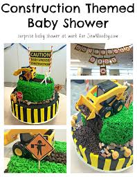 construction baby shower construction themed baby shower sew woodsy