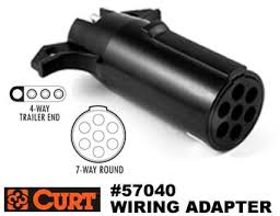 curt i 704 trailer plug wiring adapter flat 4 to round pin 7 connector