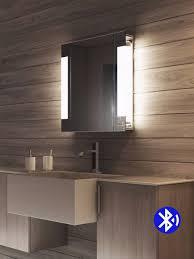 audio bluetooth side ambience bathroom cabinets light mirrors