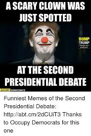 Scary Clown Memes - a scary clown was just spotted dump trump change your profile pic