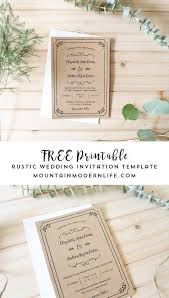 rustic wedding invitation templates free printable wedding invitation template free printable