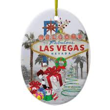 merry las vegas santa ornament zazzle