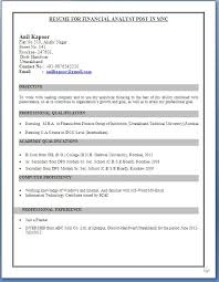Mba Marketing Fresher Resume Sample Image Result For Ca Ipcc Cv Format For Freshers Students