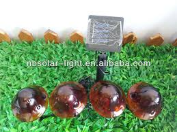 Colour Changing Solar Garden Lights - colour changing crackle glass mushroom solar outdoor pathway