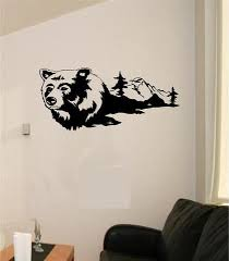 Man Cave Wall Decor Bear Hunting Wall Decals Mural Home Decor Vinyl Stickers Decorate