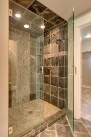 bathroom modern brown ceramic wall shower screen decor with