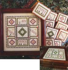 rosewood manor advent box w ornaments cross stitch pattern